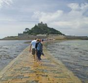 Walking the causeway to St Michael's Mount