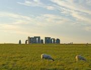Stonehenge seen from the car
